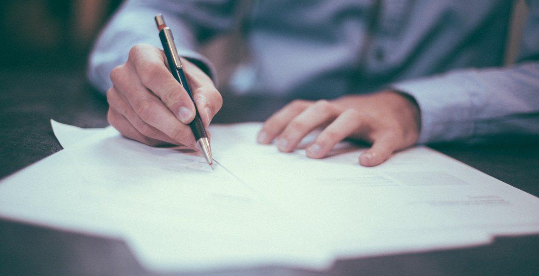 Writing Pen Man Ink Paper Pencils Hands Fingers